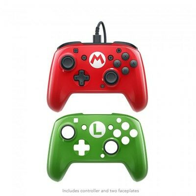 Nintendo Switch Super Mario Faceoff Deluxe Wired Pro Controller