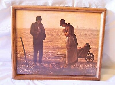 Vintage {Nelson's Woodcraft} Framed Beautiful Painting With Protective Glass.