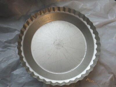 Wearever Aluminum Fluted Vtg. Pie Pan No. 2865 10 X 1 3/4 Made In U.s.a.