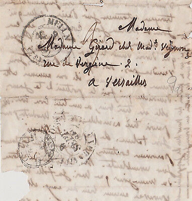 19th Century Old French Stampless Letter