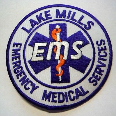 Lake Mills Wisconsin Ems Emergency Medical Services Patch Unused