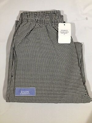 NWT Joseph Lawrence Men's 3 Pocket Chef Pants Black & White Checked Small Baggy