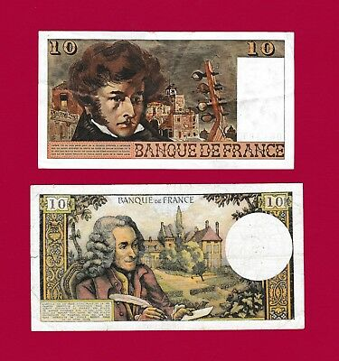 Two French Notes: 10 Francs 1977 (P-150) & 10 Francs 1971 (RADAR NOTE) (P-147)