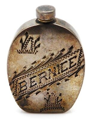 VINTAGE Mexican Sterling Silver Perfume Flask ~ BERNICE ~ Monterrey