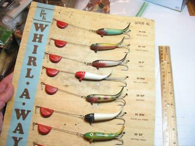 dealer card P&K Whirl Away old fishing lures new on card a WOWSER