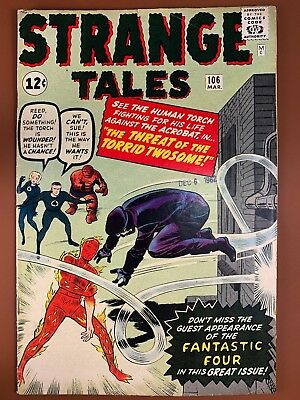 Strange Tales #106 (1963 Marvel) Human Torch appearance Silver Age NO RESERVE