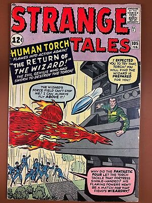 Strange Tales #105 (1963 Marvel) Human Torch appearance Silver Age NO RESERVE