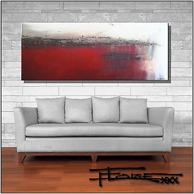 Abstract Painting, Modern Canvas Wall Art, Framed, Large, Signed, US ELOISExxx