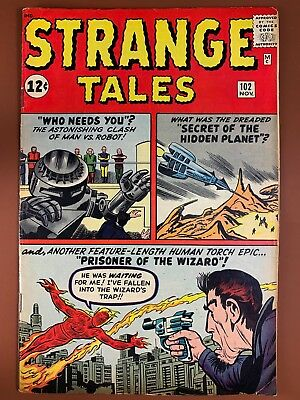 Strange Tales #102 (1963 Marvel) Human Torch appearance Silver Age NO RESERVE