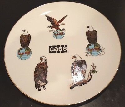 J I CASE MACHINERY 6 Generations of Eagle Logos Collector Dinner Plate very rare