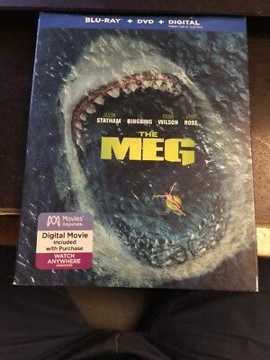 The Meg  Blu-Ray DVD and Digital  Brand New
