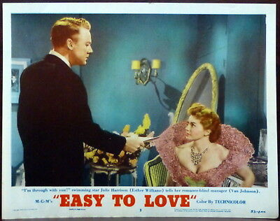 Esther Williams Easy to Love Original 1953 Lobby Card Water Van Johnson