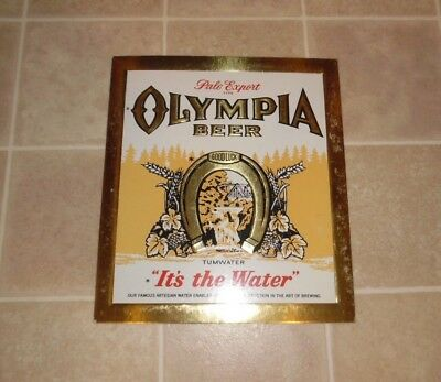 Vintage Olympia Pale Export Beer Sign Turnwater NOS