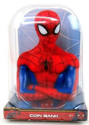 Marvel Spiderman Bust Coin Bank Piggy 3D Toy Figure NEW