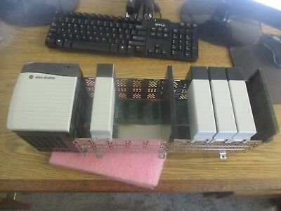 Allen Bradley Cat. #: 1756-A10/B Chassis w/ 1756-PA72/B Power Supply and Blanks<