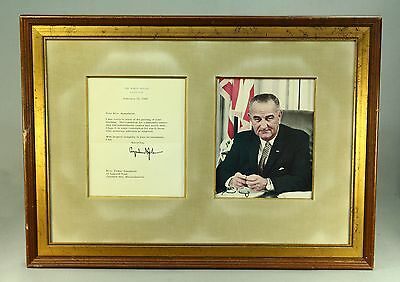 * 1964 Original SIGNED Letter & Photograph US President Lyndon B. Johnson, LBJ