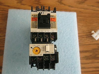 Fuji Electric Model: 13 Magnetic Contactor. P/N: SC-0/G with TB-0N Aux. <