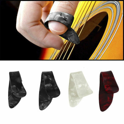 4 x/Set Plastic 1 Thumb 3 Finger Nail String Gutar Picks Plectrums Pop