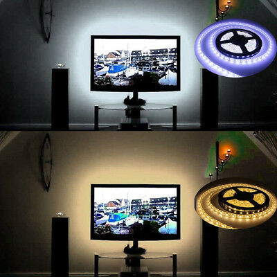 0.1-5M 5V 5050 SMD 60LEDs/M USB Strip Light TV Back Lighting Kit Warm/Cool White