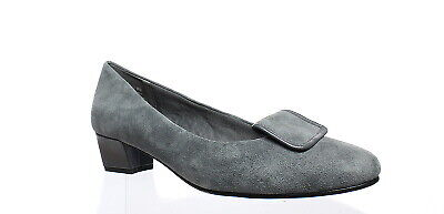 New David Tate Womens Variation Gray Suede Pumps Size 9 (AA,N)