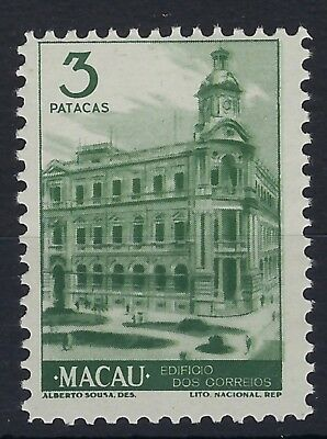 Macau 1948 3p grey-green View hinged mint
