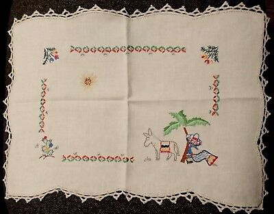 Vintage Tray Cloth Doily - Mexican Siesta - Large - Look