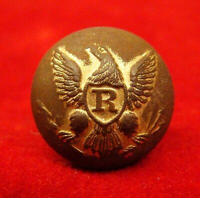 "Us Rifleman's Cuff Button With Rare ""hyde & Goodrich N.o."" Bm. Cs Camp. Iuka Ms."