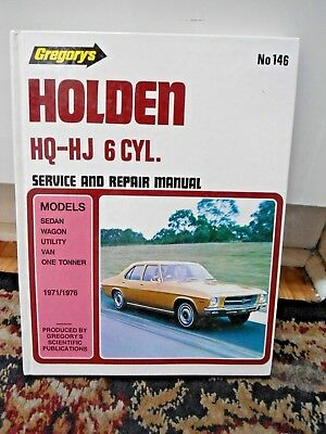 Gregory's Holden HQ~HJ 6 Cylinder Service & Repair Manual ~ Scientific Pub 146