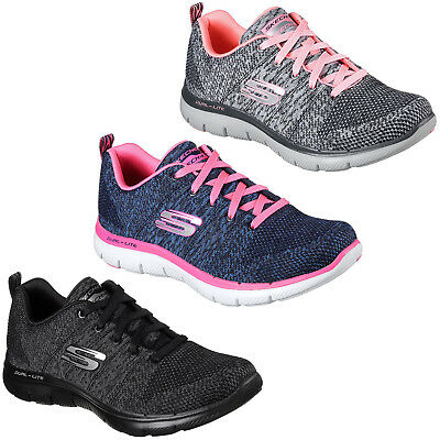 SKECHERS FLEX APPEAL 2.0 charcoal sneakers scarpe donna mod