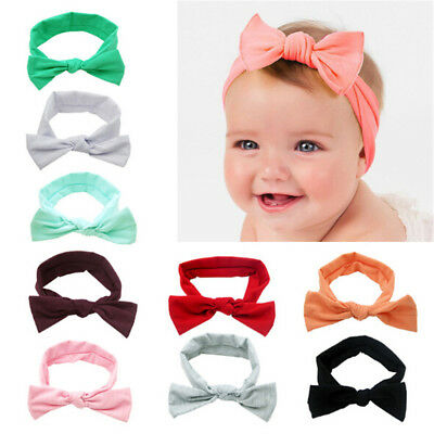 Kids Baby Infant Girl Toddler Solid Headband Hair Band Accessories Headwear Gift