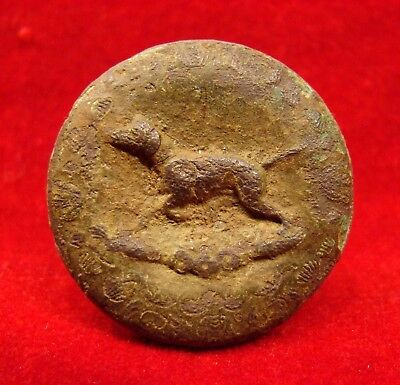 Dug Sportsman's Coat Button Found In A Confederate Camp Near Winchester Va