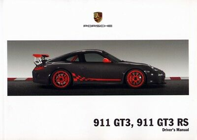 PORSCHE 911 GT3 , GT3 RS - 997 - Drivers Manual 2010 - NEW