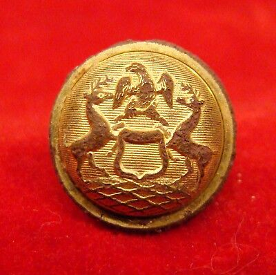 Rare Michigan Militia Cuff Button Dug Near Richmond Va. Civil War.