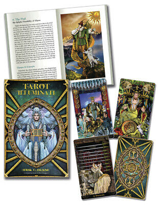 ILLUMINATI TAROT KIT Deck Card Book Set pagan wicca witch fortune oracle cards