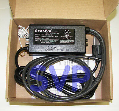 * UL Listed 6,000 volts / 6kV (5kV RMS) NEON SIGN TRANSFORMER POWER SUPPLY