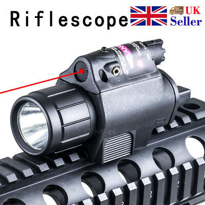 Tactical Red Laser Sight CREE LED Flashlight Fit Standard 20mm Rail For Airsoft