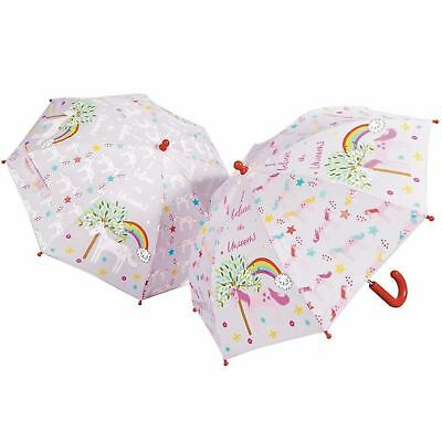 Floss and Rock Unicorns Bright Colour Changing Lilac Kids Girls Umbrella Brolly