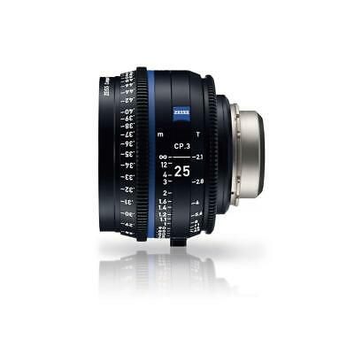 Zeiss 25mm T2.1 CP.3 XD Compact Prime Cine Lens (Feet) PL Bayonet Mount #2181383