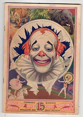 1932 Ringling Bros Barnum & Bailey Circus Program