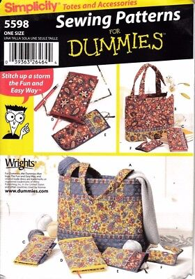 Simplicity Sewing Pattern For Dummies #5598 Bags & Accessories