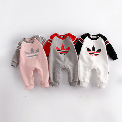 2018 Baby Newborn Boys Girls Winter Wool Warm Romper Toddler Babygrow Outfit Top