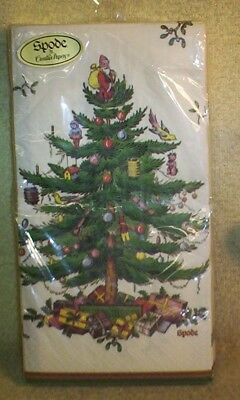"""New & Sealed Spode """"christmas Tree"""" Pack Of 16 Guest Towels 12-7/8"""" X 16-1/2"""""""