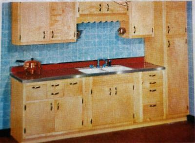 MONTGOMERY WARD KITCHEN CABINETS FORMICA COUNTERTOPS ADVERTISING BROCHURE 1950s