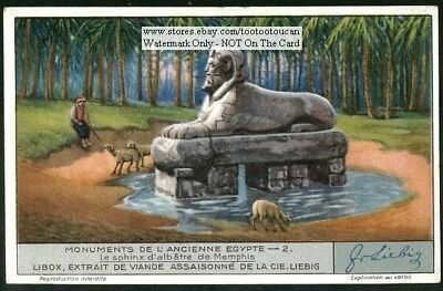 Ancient Egypt Alabaster Sphinx Of Memphis 1920s Trade Ad Card