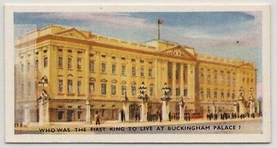King Edward VII First King To Live At Buckingham Palace 75+ Y/O Trade Ad Card