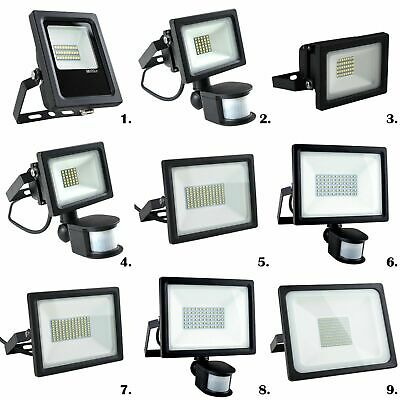 Modern Integrated LED Floodlights Outdoor Security Lighting PIR Sensor 10W - 75W