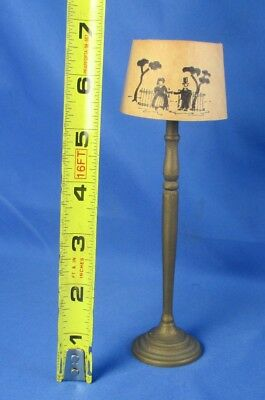 Vintage Tynietoy Dollhouse Miniature Floor Lamp Inked Shade Furniture Ink Stamp