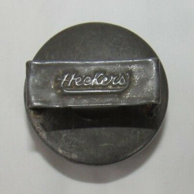Antique HECKERS' Flour Advertising, Biscuit Cookie Cutter, Tin Metal, Baking