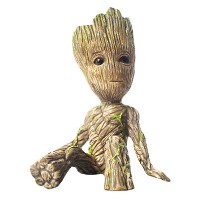 Guardians of the Galaxy Vol. 2 Baby Groot Figurine Figure Flowerpot Pen Pot Toys