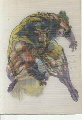 1996 X-Men Fleer Ultra: Wolverine -  Marvel Mirage Card ( Two Of Three )